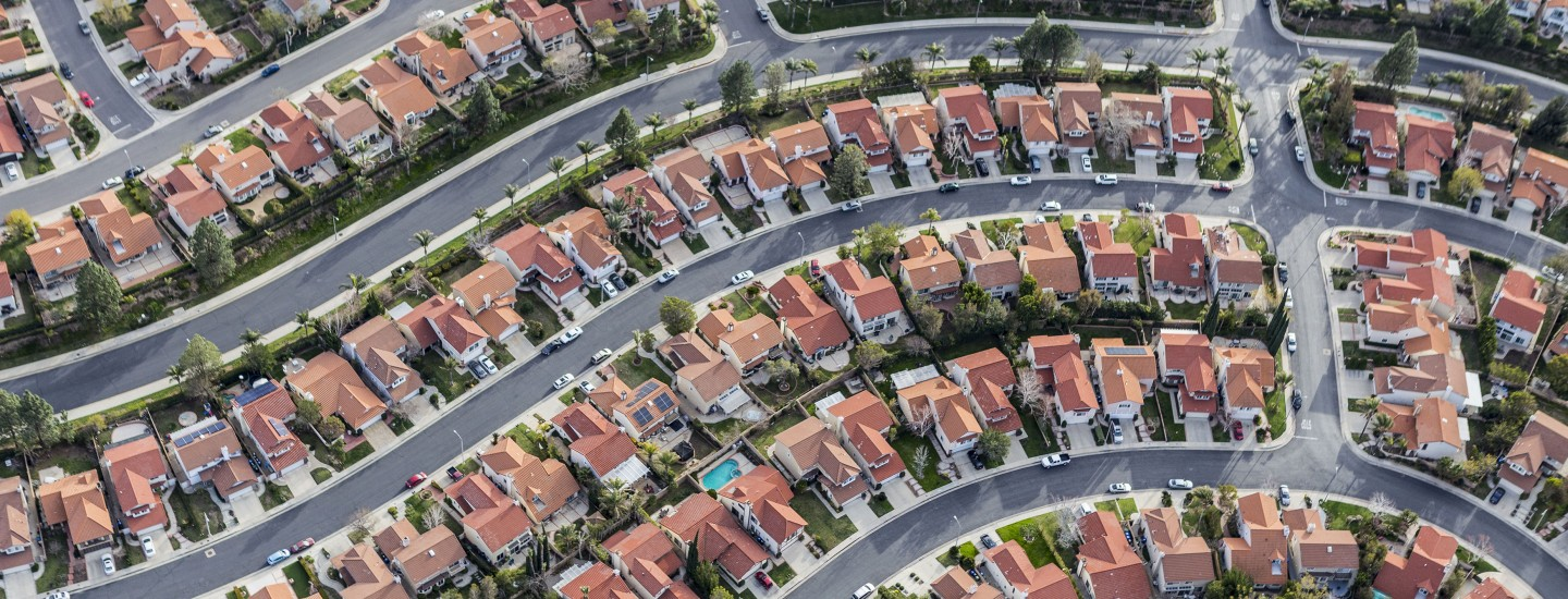aerial-view-tightly-packed-homes