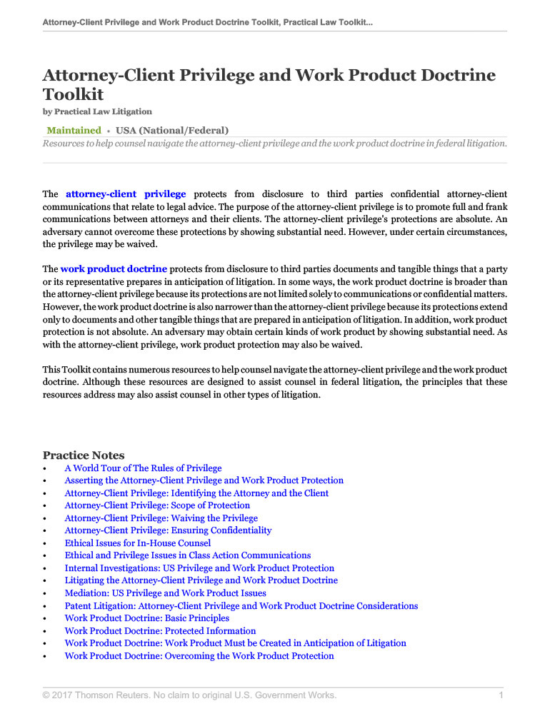 Legal Toolkits Practical Law Thomson Reuters Legal - Types of legal documents