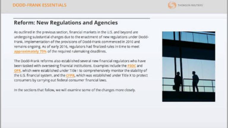 Dodd-Frank Essentials   Thomson Reuters Legal
