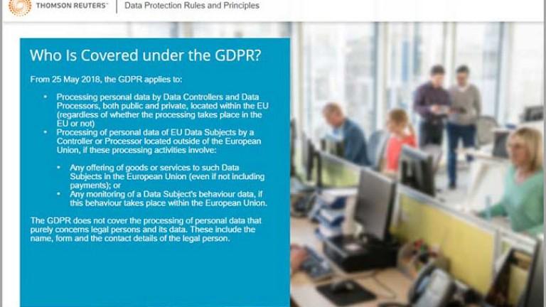 General Data Protection Regulation (GDPR) Training   Thomson Reuters
