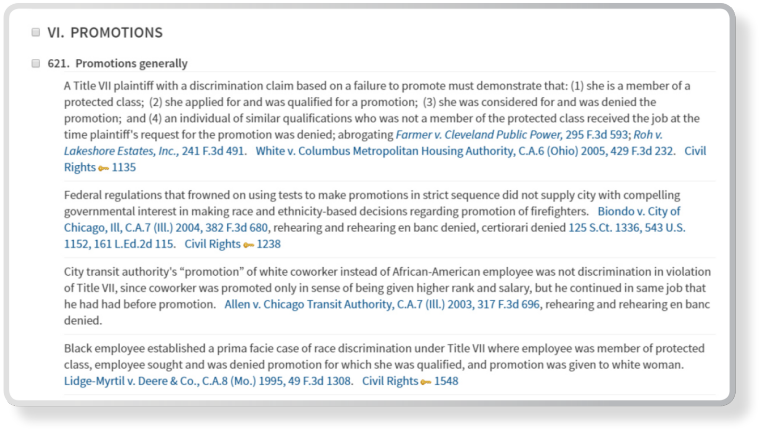 Westlaw Edge Editorial Enhancements Notes on Decisions Screenshot