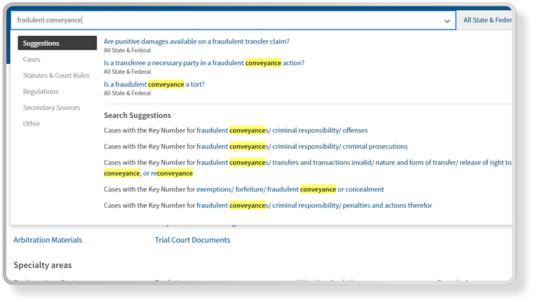 WestSearch Plus on Westlaw Edge