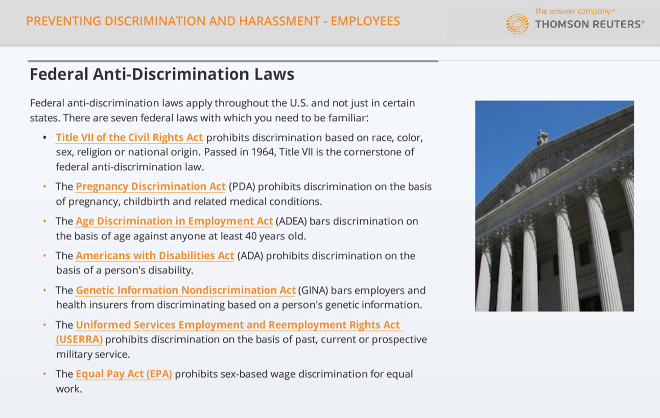 Sexual harassment and employees and federal law