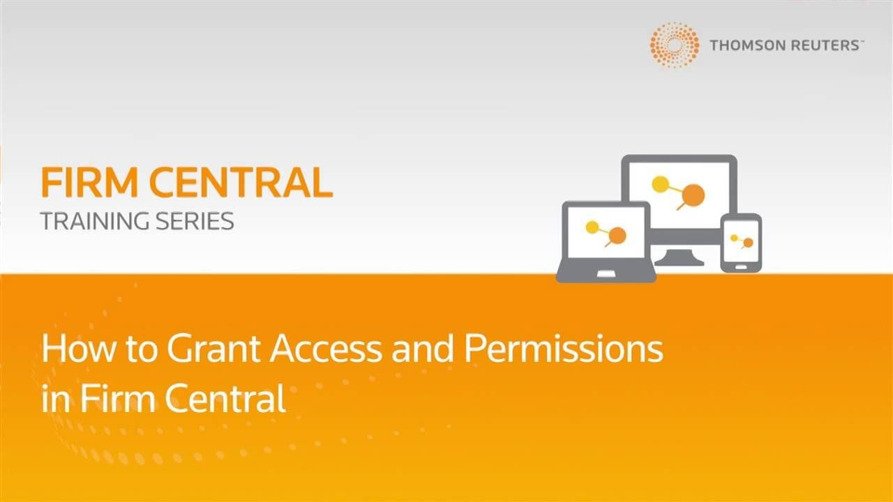 How to grant access and permissions in Firm Central