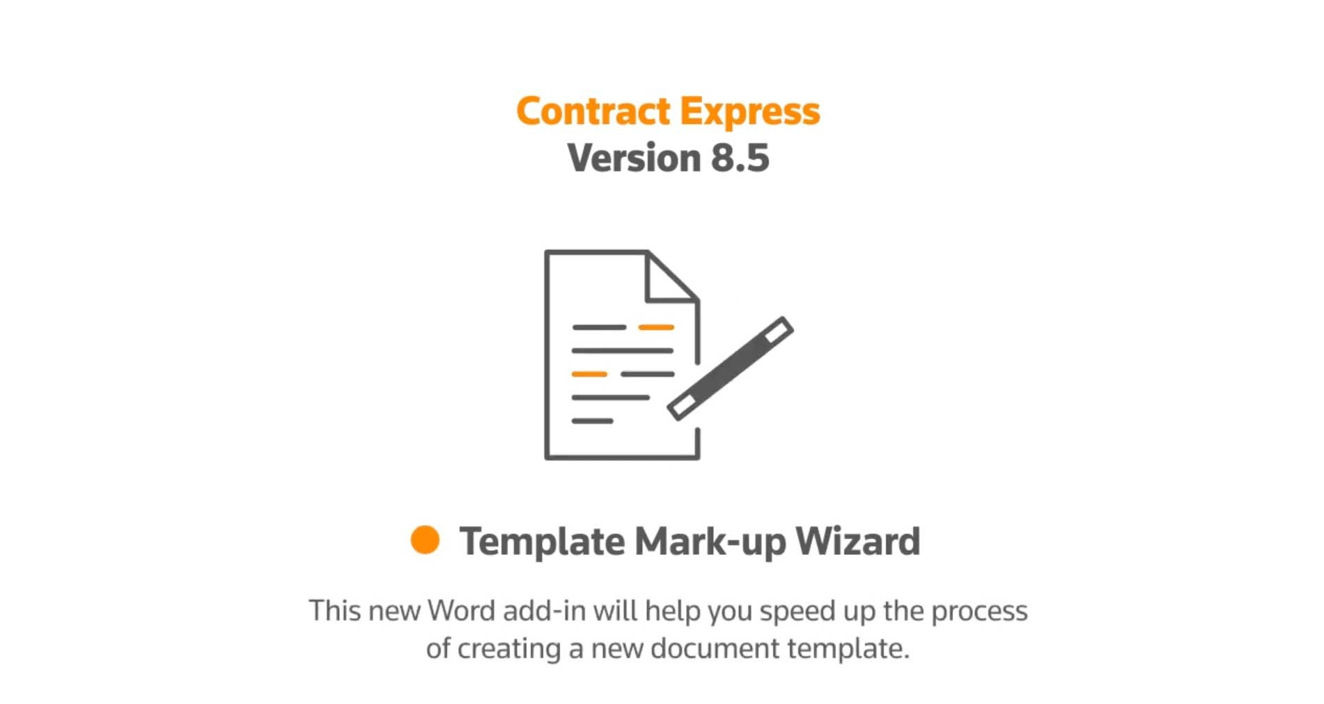 Introduction to Contract Express 8.5