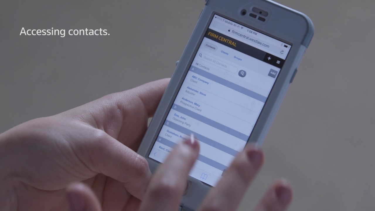 Learn to Access Firm Central Contacts from Your Mobile Device