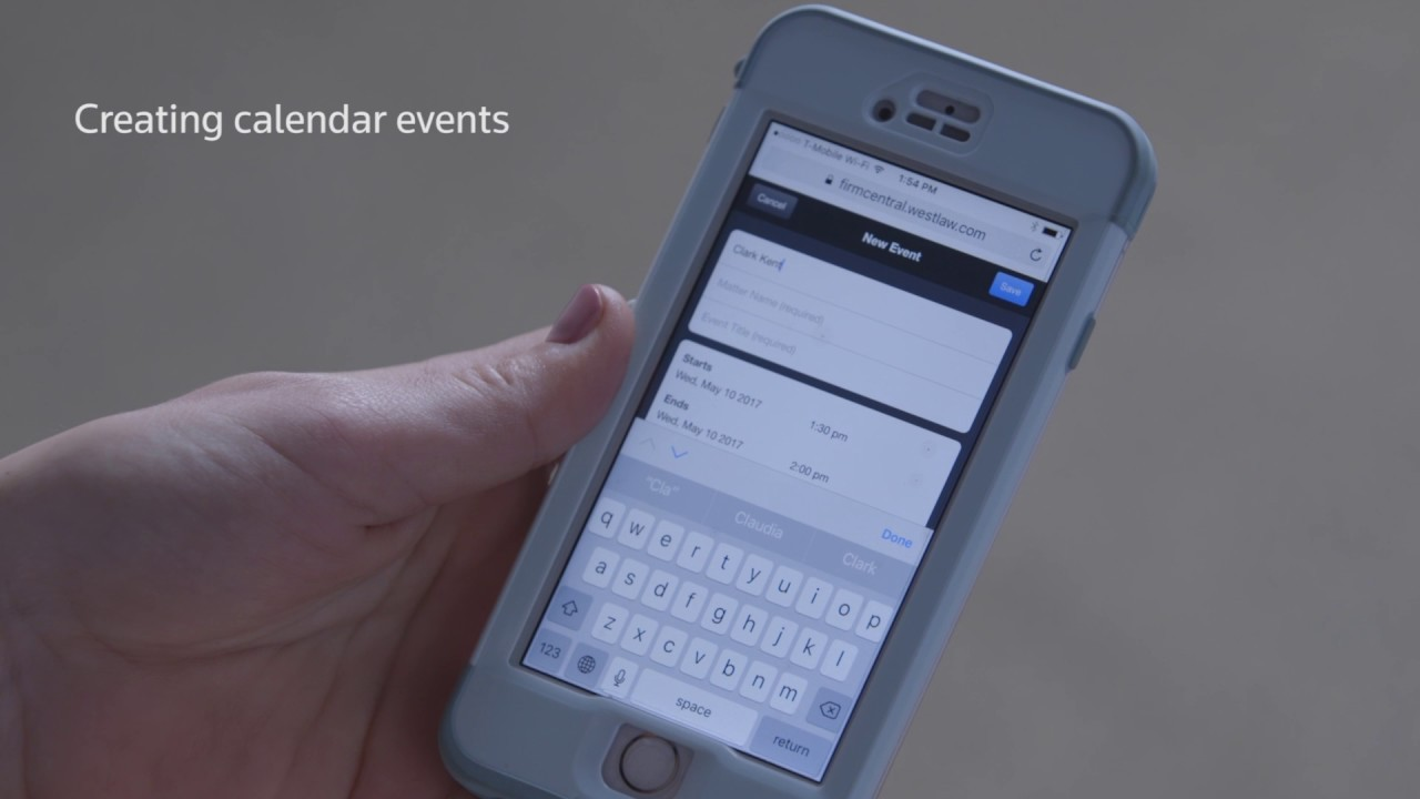 Learn to Create Calendar Events in Firm Central on Your Mobile Device