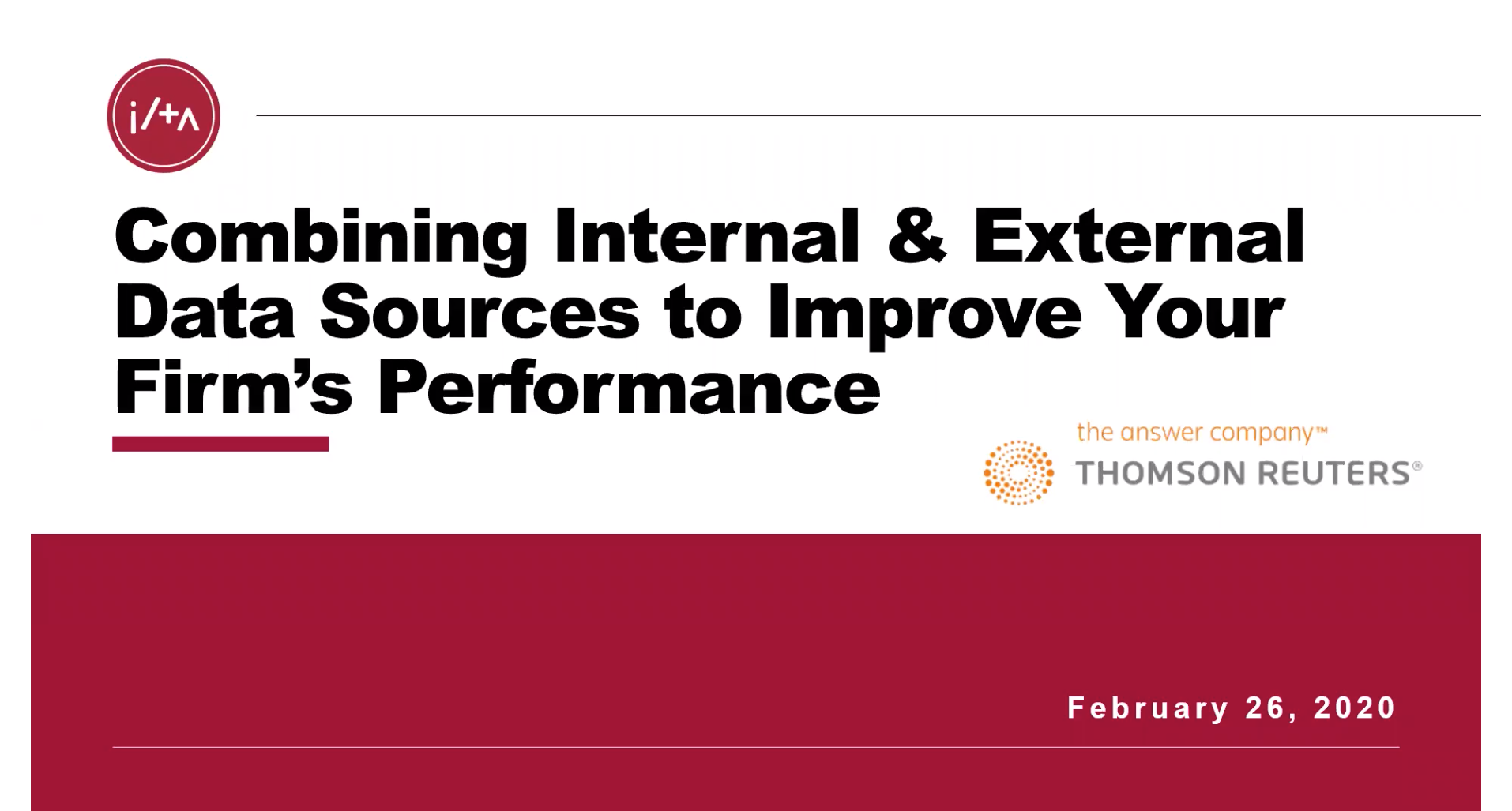 Combining Internal & External Data Sources to Improve Your Firm's Performance