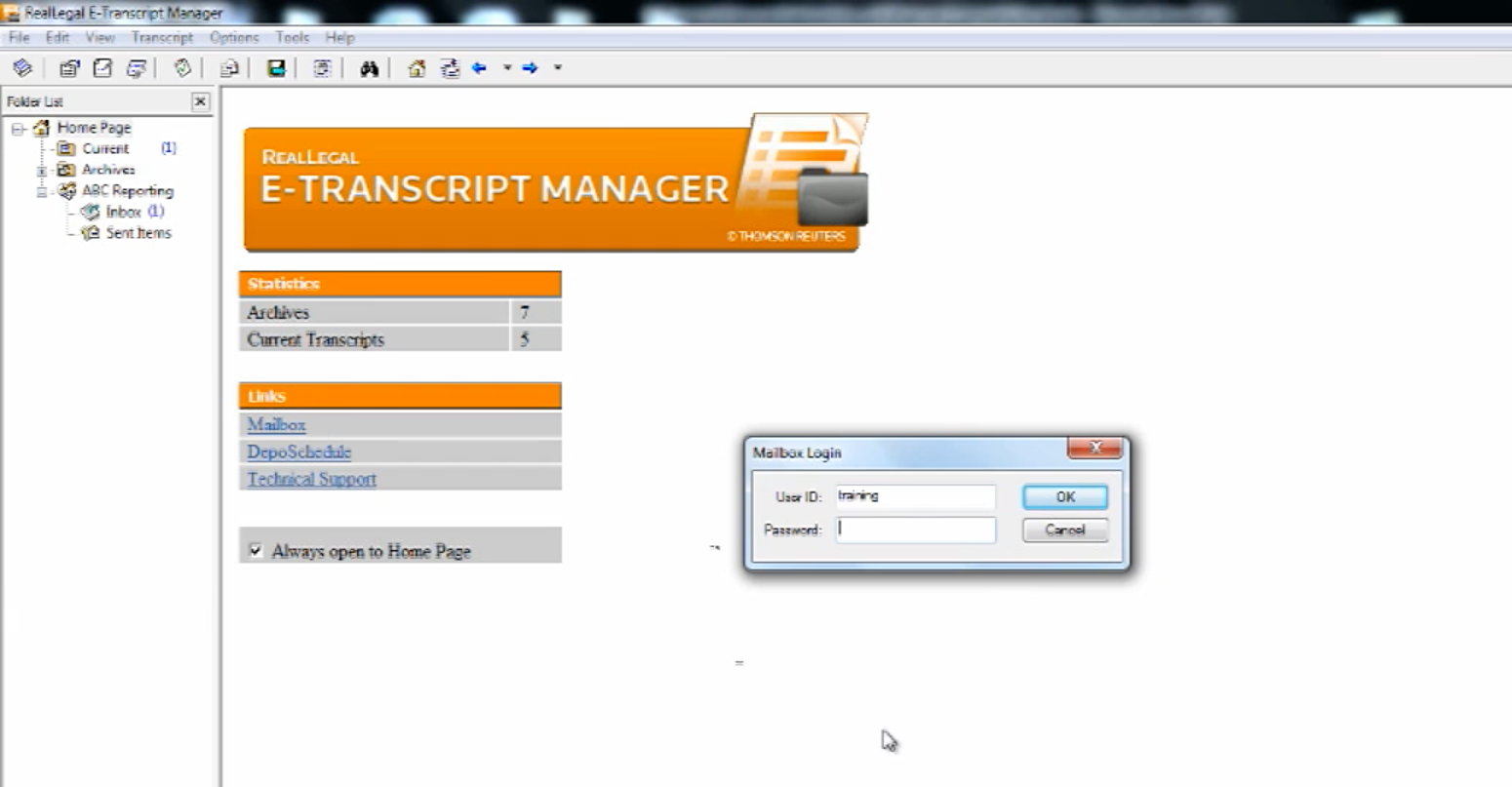 Logging into E-Transcript Manager and Workspace Overview