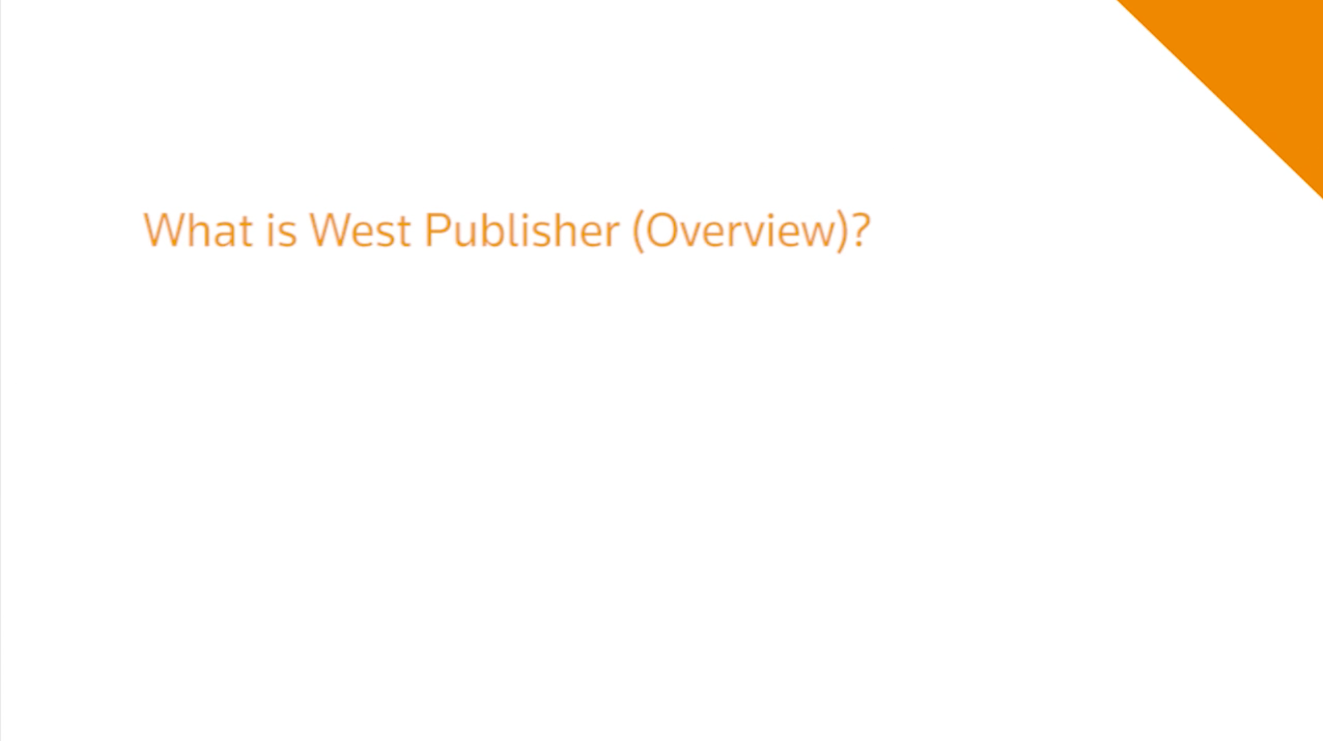 What is West Publisher?