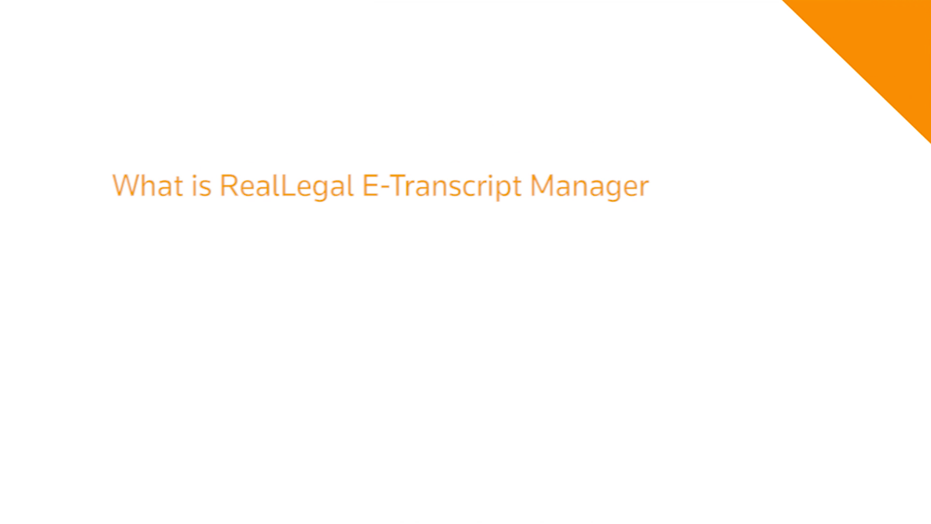 What is RealLegal E-Transcript Manager video player