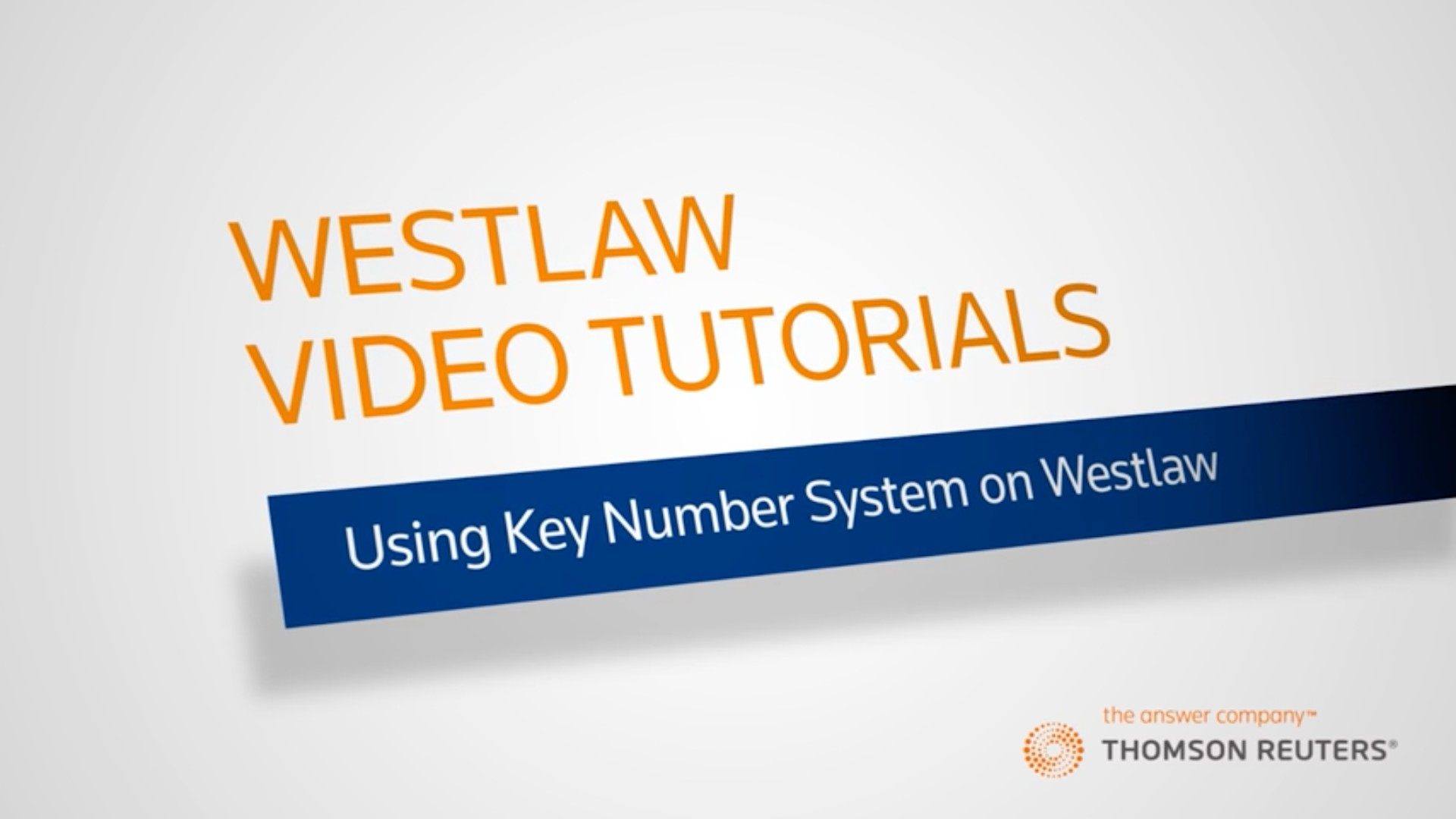 Using the Key Number System on Westlaw